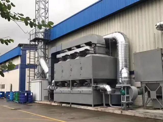 活性炭过滤解析催化燃烧装置有机废气处理机器设备金属催化剂