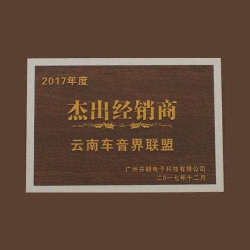 2017优秀经销商奖