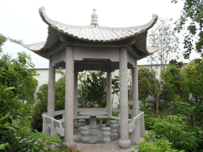 襄阳石雕亭子定制能把文化内涵和诗书画印很好的结合