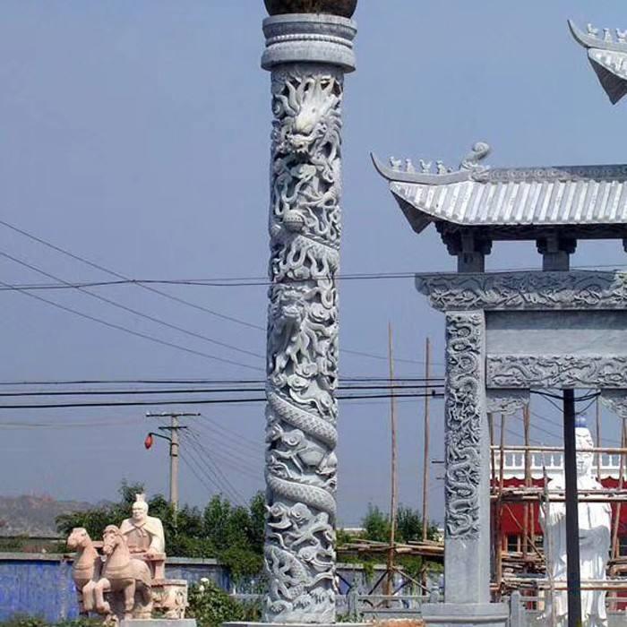石雕龙柱定制