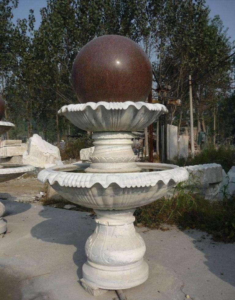 石雕喷泉花盆