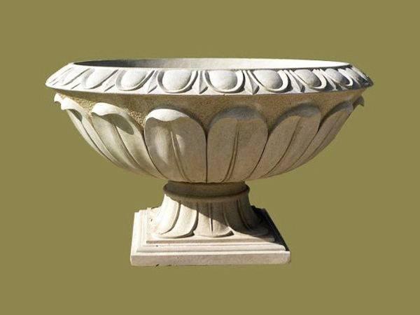 小区石雕花盆