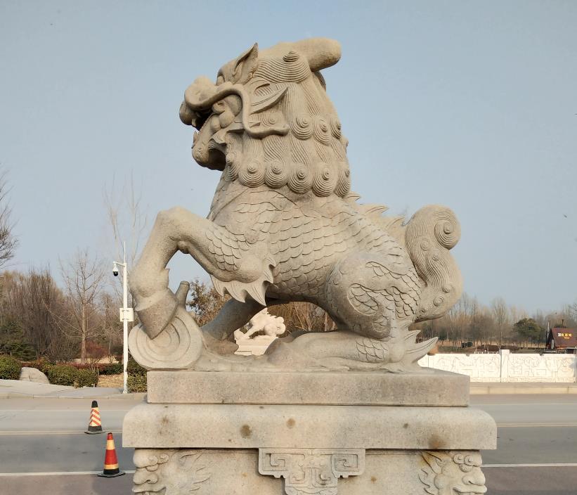 襄阳石狮子不仅有权贵的象征还有驱魔辟邪的作用