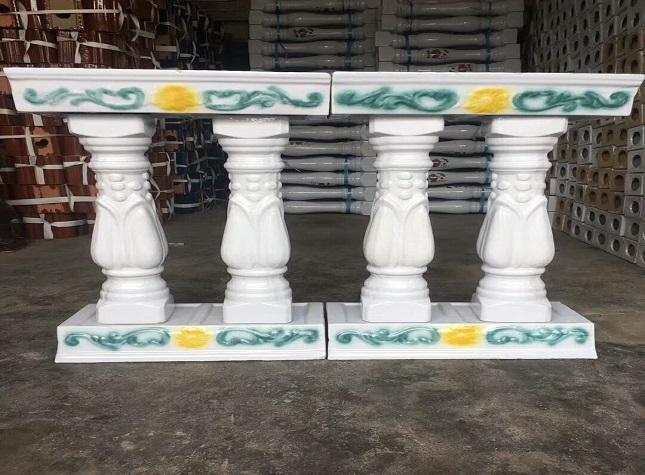 乐山陶瓷花瓶柱栏杆