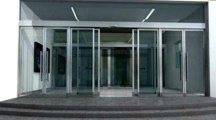 玻璃感应门