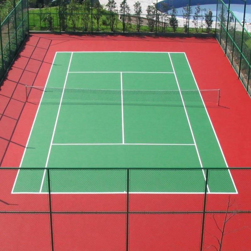 硅PU网球场球场材料