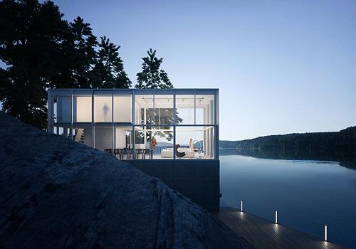 河边的景观房子