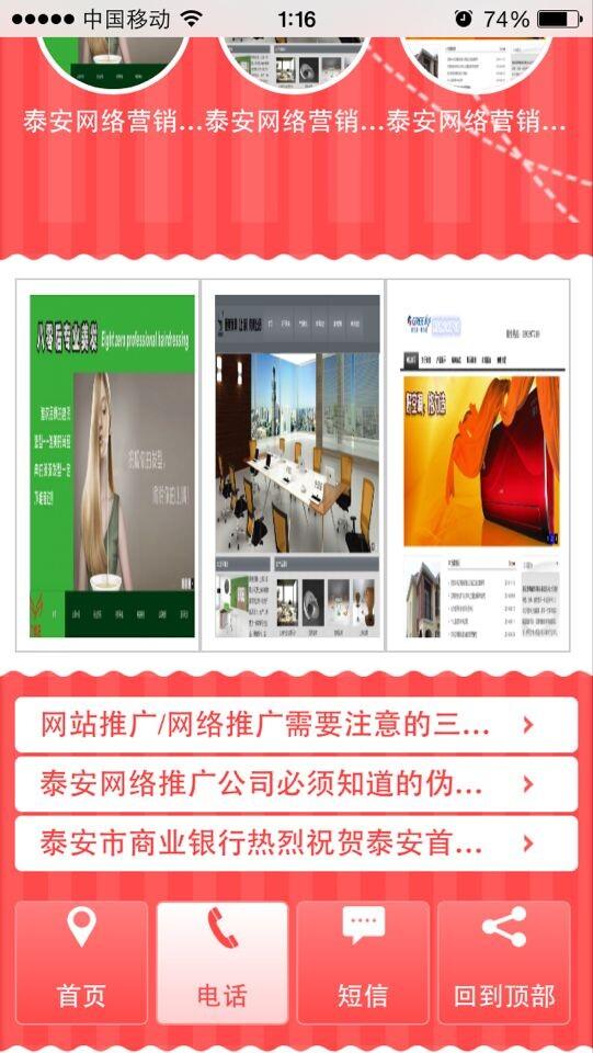 手机网站建设案例之泰安首选网络公司