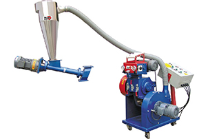 Extraction type edge material recycling machine