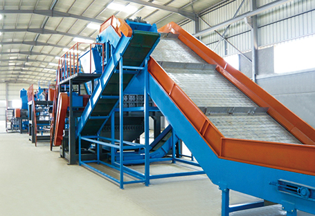 Tire broken recovery production line