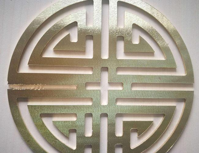 激光切割铜板