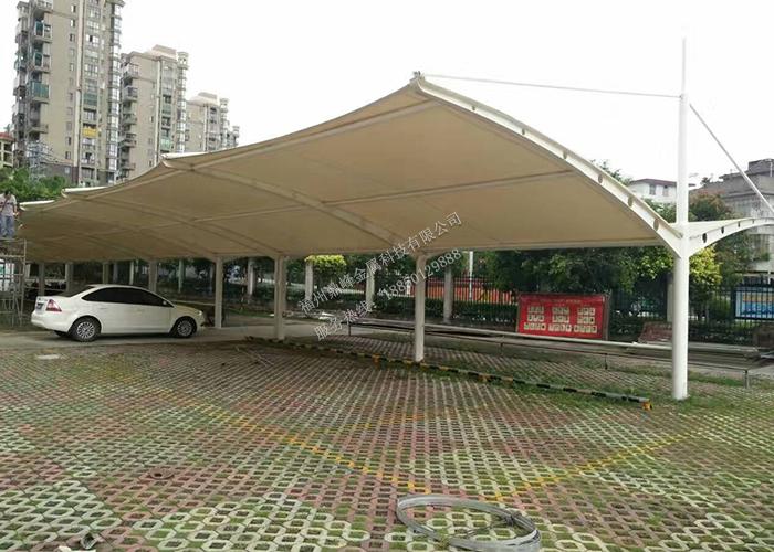 福建阳光板停车棚