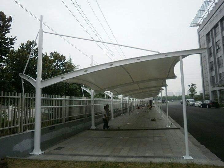 膜结构停车棚摆脱传统直线型