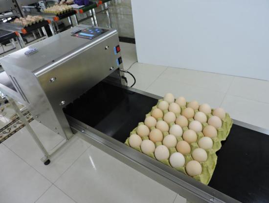 鸡蛋上面也可以喷印生产日期或者品牌logo!