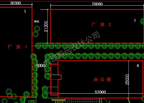 厂房地块规划结构图