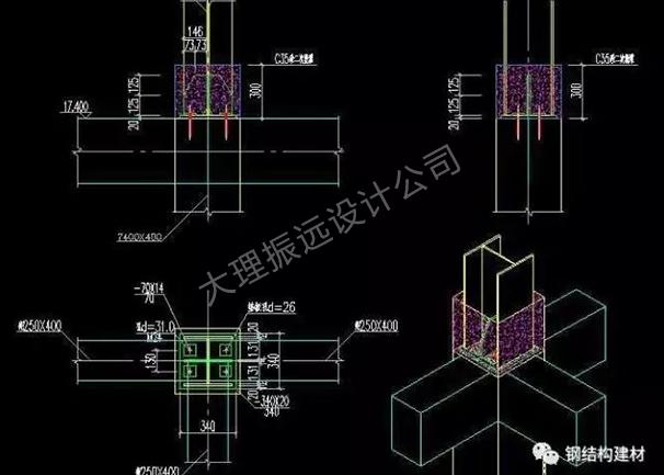 昆明建筑框架设计图纸