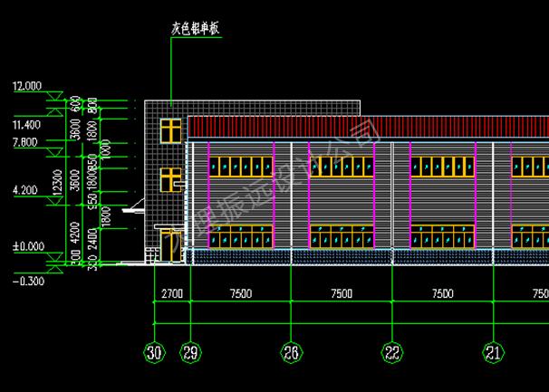 云南钢结构厂房建筑图设计