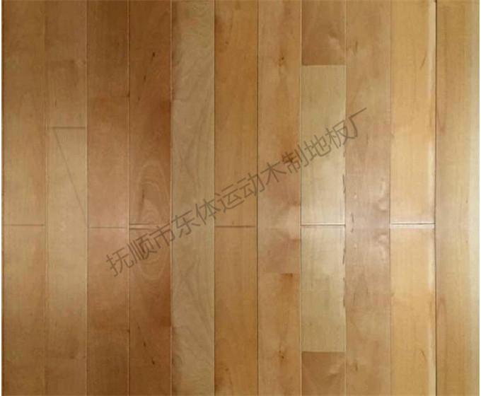 运动木地板-枫桦木加黄色板