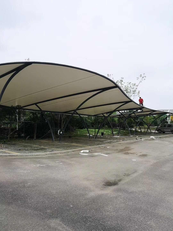 大邑县安仁镇现代农业园示范基地膜结构车棚