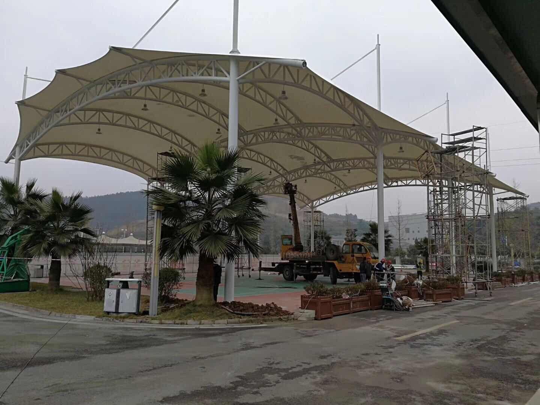 大邑一邑州监狱篮球场膜结构