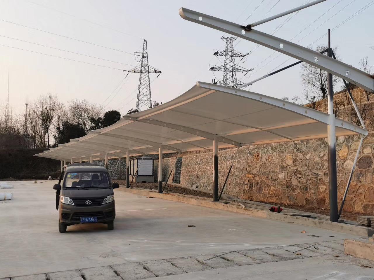 钟祥市捷凯新能源膜结构停车棚