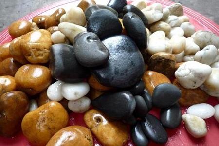 自然面五彩鹅卵石