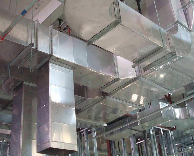 不锈钢通风管道安装