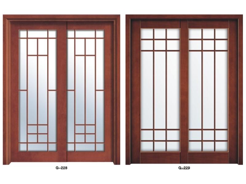 实木门玻璃门 G-228-G229