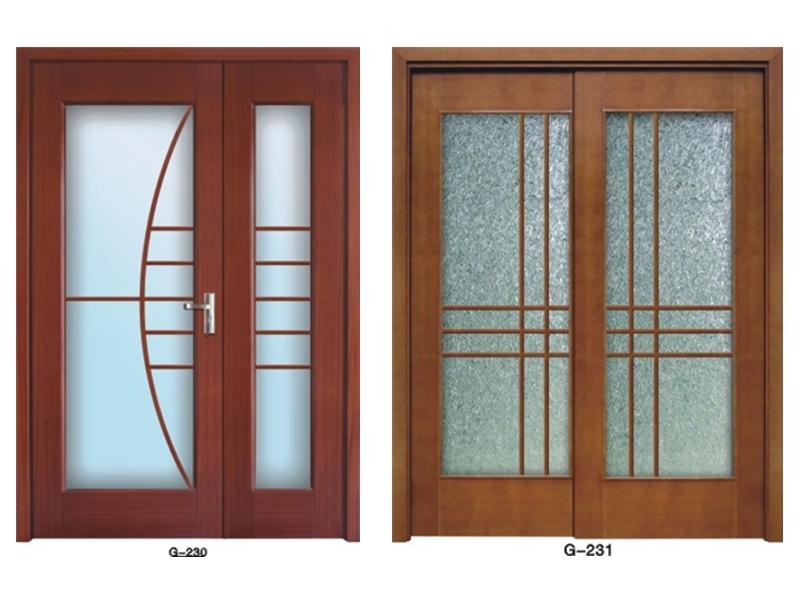 实木门玻璃门 G-230-G231