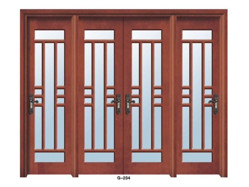 实木门玻璃门 G-234