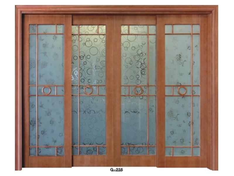 实木门玻璃门 G-235