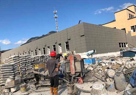 福州洋里垃圾收运一体化项目屋面泡沫混凝土浇筑施工