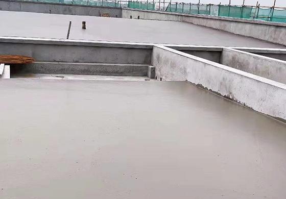 晉江市潘徑實驗幼兒園屋面泡沫混凝土施工