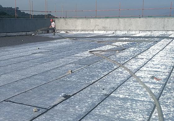 福建漳州航天机电集团投资建设电气机械和器材项目泡沫混凝土屋面保温
