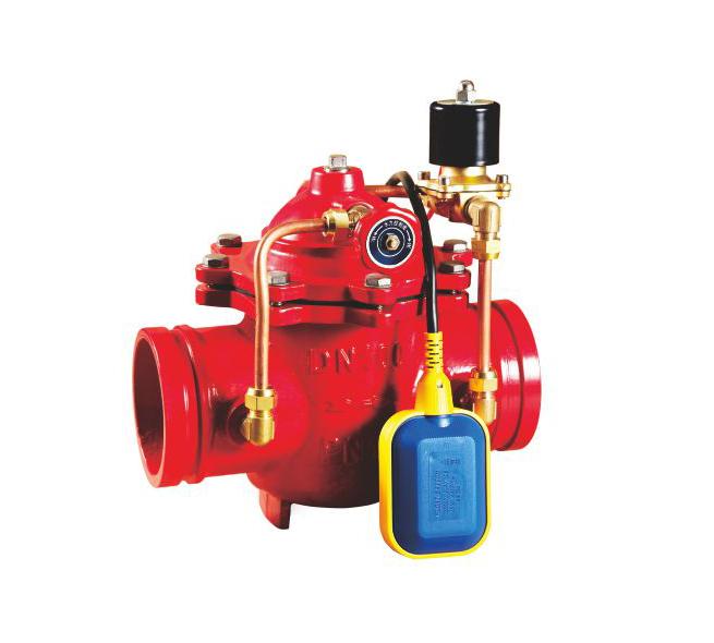 106X-16溝槽水力電動浮球閥