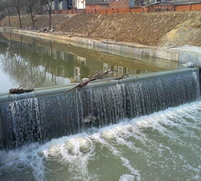 水力自控翻板閘壩