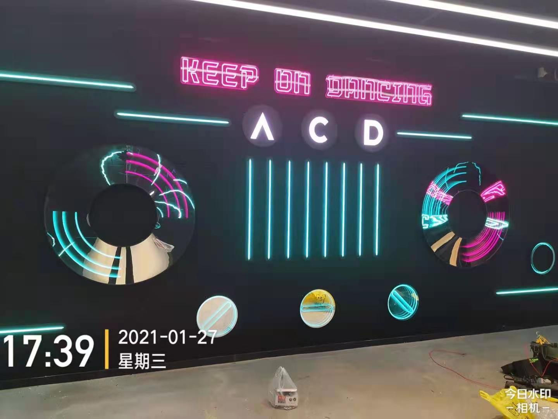 ACD品牌连锁店安装全彩霓虹灯+千层镜案例