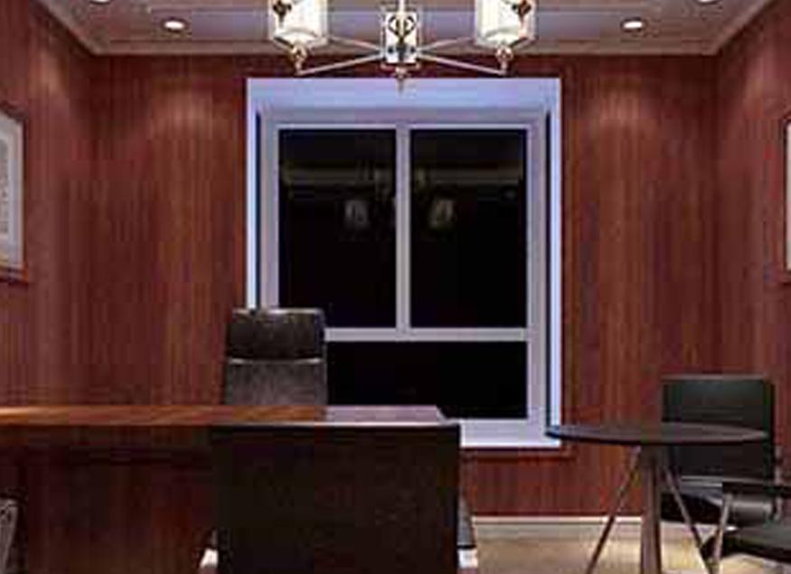 办公室集成墙板中式风格设计