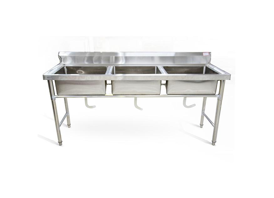 不锈钢三眼洗碗池