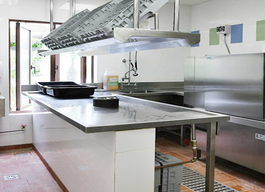 酒店厨房洗槽设备工程案例
