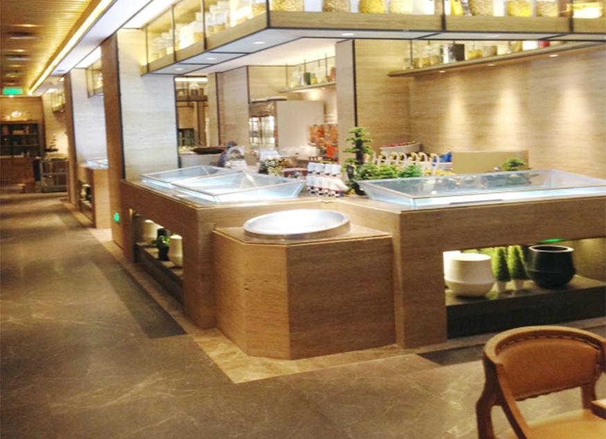 酒店海鲜自助餐台设备一角工程案例