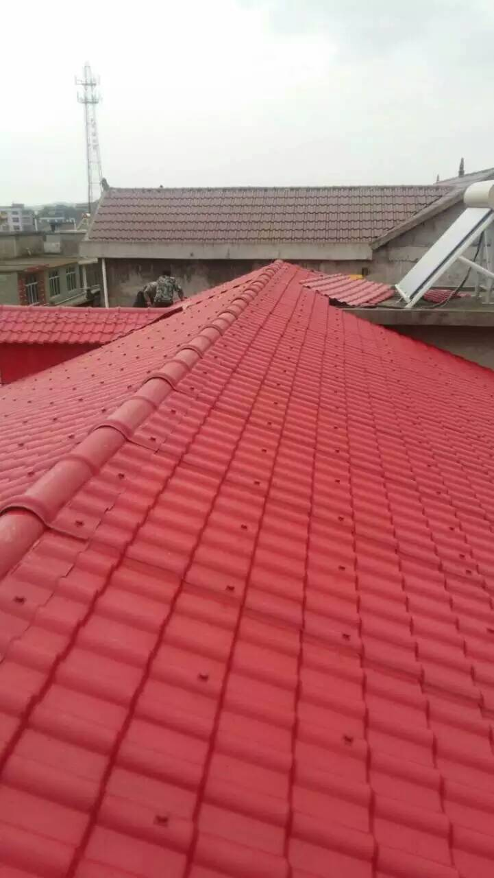 屋顶选择树脂瓦装好后太美啦!