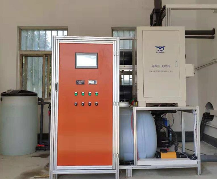 湖北省,日处理15000吨/天污水厂末端消毒,次氯酸钠发生器产氯量15.0Kg/h(一用一备)