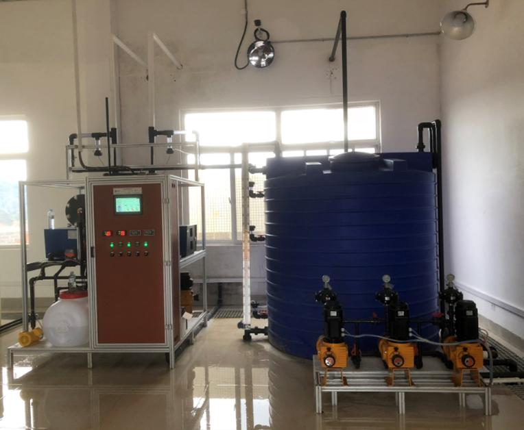 广西省,日供水2万吨/天自来水厂消毒,次氯酸钠发生器产氯量2Kg/h(一用一备)