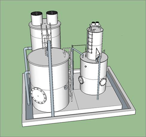 不锈钢结构净水装置