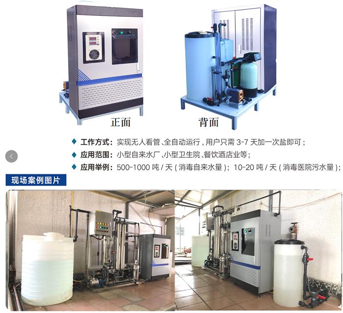 组合式次氯酸钠发生器产氯量50-100g/h