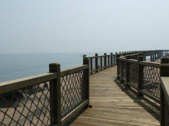 海边木栈道