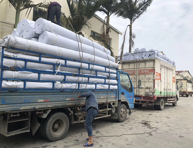 莆田公路联十一线 路面养护土工布