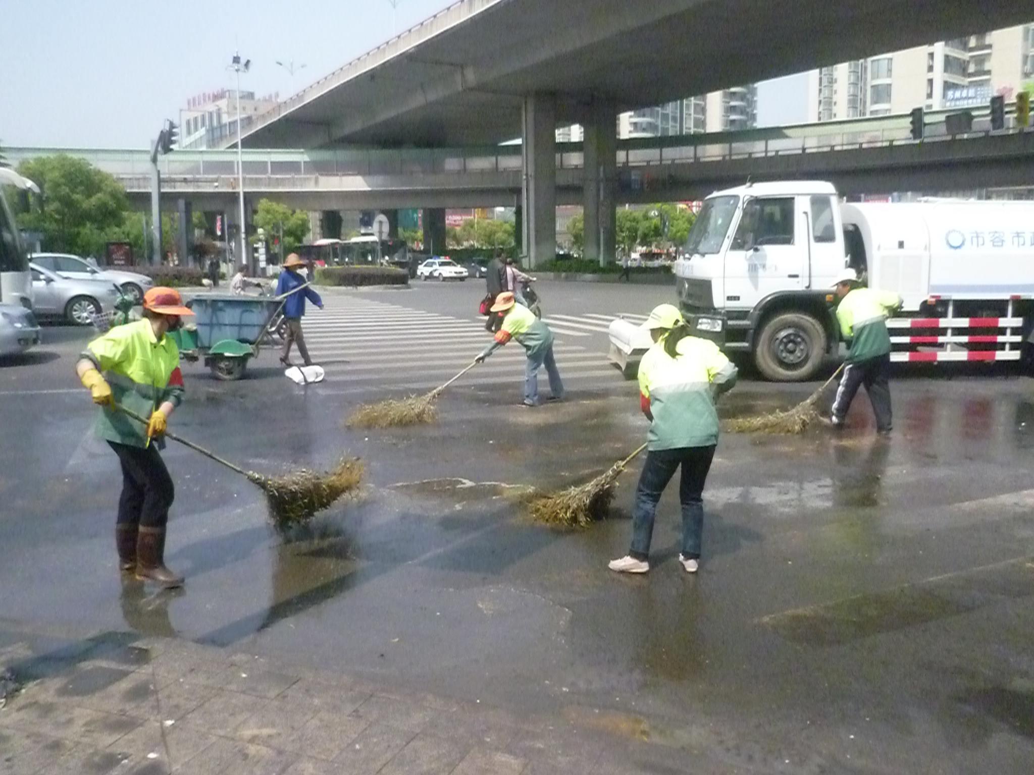 清洗路面油污