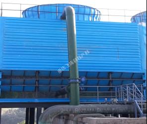 新建单台800m3/h钢架结构水能风机填料冷却塔